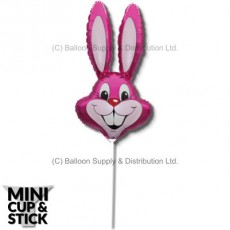 Mini Magenta (Fuchsia) Air-Filled Rabbit Heads