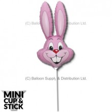 Mini Pastel Pink Air-Filled Rabbit Heads - SOLD OUT
