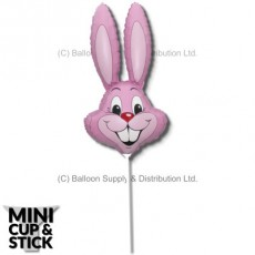 Mini Pastel Pink Air-Filled Rabbit Heads - Pack 12