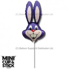 Mini Purple (Violet) Air-Filled Rabbit Heads