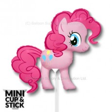 Mini My Little Pony Pinkie Pie Air-Filled Stick Balloon
