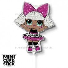 Mini LOL Surprise Diva Air-Filled Stick Balloon