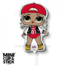 Mini LOL Surprise MC Swag Air-Filled Stick Balloon