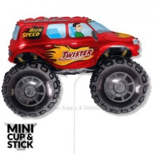 Mini Red Big Wheels Monster Truck Air-Filled Balloon