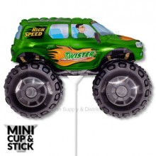 Mini Green Big Wheels Monster Truck Air-Filled Balloon