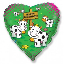 "18"" Birthday Cows Balloon"