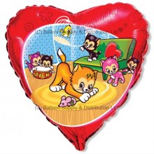 "18"" Funny Little Cats Balloon"