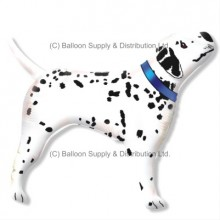 XL Jumbo Blue Dalmatian Shape Balloon