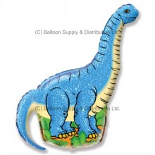 XL Jumbo Blue Diplodocus Shape Balloon