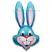 Jumbo Blue Bunny Rabbit Shape Balloon -  PRE-ORDER - DUE 9 March, 2021