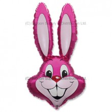 Jumbo Dark Pink Bunny Rabbit Shape Balloon - CAN NO LONGER GUARUNTEE DELIVERY FOR EASTER