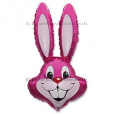 Jumbo Dark Pink Bunny Rabbit Shape Balloon