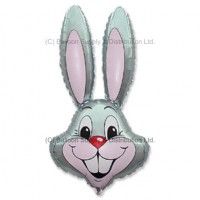 Jumbo Grey Bunny Rabbit Shape Balloon