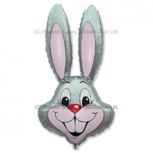 Jumbo Grey Bunny Rabbit Shape Balloon -  CAN NO LONGER GUARUNTEE DELIVERY FOR EASTER