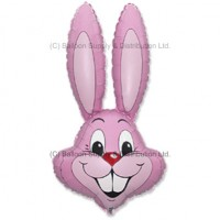 Jumbo Pastel Pink Bunny Rabbit Shape Balloon