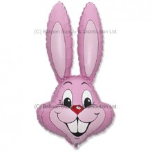 Jumbo Pastel Pink Bunny Rabbit Shape Balloon -  CAN NO LONGER GUARUNTEE DELIVERY FOR EASTER