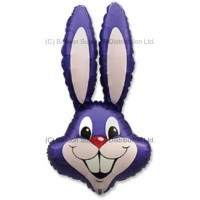 Jumbo Plum Violet Bunny Rabbit Shape Balloon - PRE-ORDER - DUE 24 FEBRUARY, 2021
