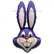 Jumbo Plum Violet Bunny Rabbit Shape Balloon -  CAN NO LONGER GUARUNTEE DELIVERY FOR EASTER