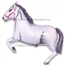 Jumbo White Horse Shape Balloon