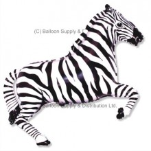 Jumbo Black Zebra Shape Balloon