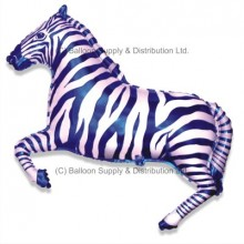Jumbo Blue Zebra Shape Balloon