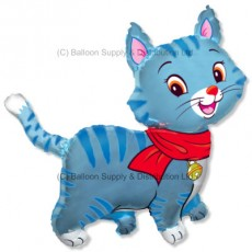 XL Jumbo Blue Lovely Cat Shape Balloon
