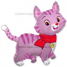 XL Jumbo Pink Lovely Cat Shape Balloon