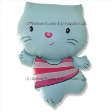 Jumbo Little Cat Blue Shape Balloon