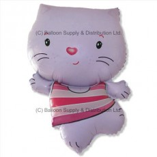 Jumbo Little Cat Pink Shape Balloon