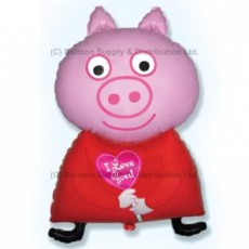 Jumbo Red Piglet Shape Balloon