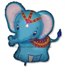 XL Jumbo Blue Baby Elephant Shape Balloon