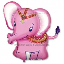 XL Jumbo Pink Baby Elephant Shape Balloon