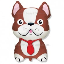 Jumbo Brown French Bulldog Shape Balloon