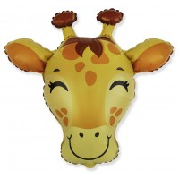 NEW! Jumbo Giraffe Head Shape Balloon