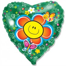 "18"" Smiley Flower Balloon"