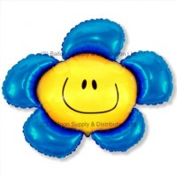 XL Jumbo Blue Flower Shape Balloon