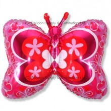 Jumbo Deco Pink Butterfly Shape Balloon