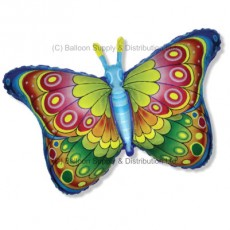 Jumbo Blue Coquette Butterfly Shape Balloon