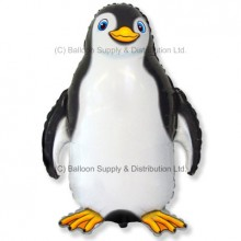XL Jumbo Black Happy Penguin Shape Balloon