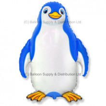 XL Jumbo Blue Happy Penguin Shape Balloon
