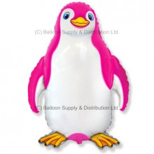 XL Jumbo Pink Happy Penguin Shape Balloon