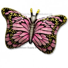 Jumbo Pink Royal Butterfly Shape Balloon
