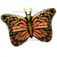 Jumbo Orange Royal Butterfly Shape Balloon
