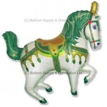 XL Jumbo Green Horse Fair Shape Balloon