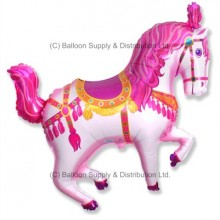 XL Jumbo Pink Horse Fair Shape Balloon