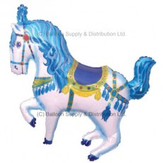 XL Jumbo Blue Horse Fair Shape Balloon