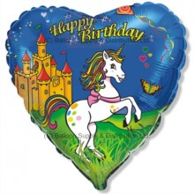 "18"" Birthday Unicorn Balloon"