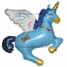 XL Jumbo Blue Flying Unicorn Shape Balloon