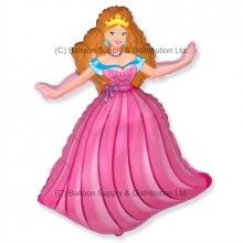 Jumbo Pink Princess Shape Balloon