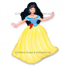 Jumbo Yellow Princess Shape Balloon